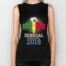 Football Senegalese Senegal 2018 Soccer Team Sports Footballer Goalie Rugby Gift Biker Tank
