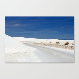 White Sand Reaches Up To The Horizon Canvas Print