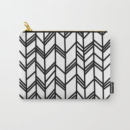 Tribal Arrow Pattern - White Background Carry-All Pouch