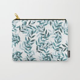 Leaf Party in Blue Carry-All Pouch