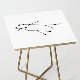 Gemini Star Sign Black & White Side Table