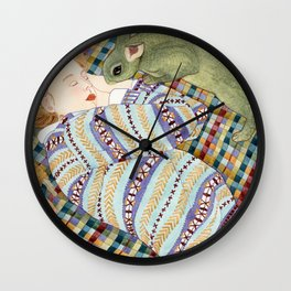Picnic With Bunny Wall Clock