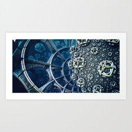 Aziblue Art Print