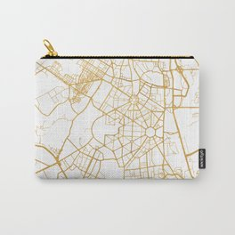 NEW DELHI INDIA CITY STREET MAP ART Carry-All Pouch