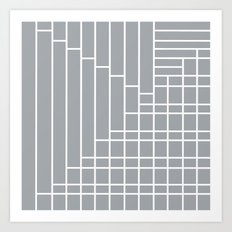 Fuzz Outline Grey Art Print