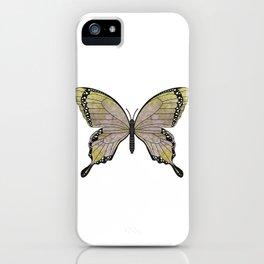 aubergine limelight swallowtail (Papilio linta) iPhone Case
