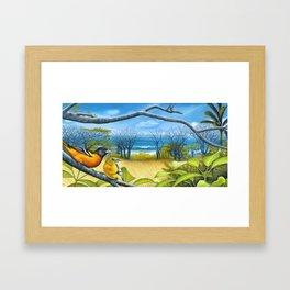 Surf Report Framed Art Print