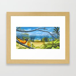 Surf Report Framed Art Print