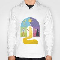 rapunzel Hoodies featuring Rapunzel by Rob Yeo Design