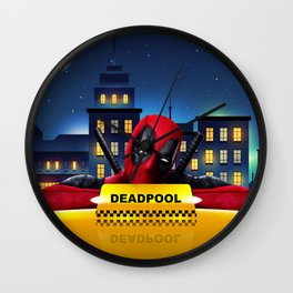 Dead Pool Taxi Night Wall Clock