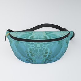 Teal Washout Fanny Pack