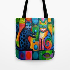 Juggle Puss Tote Bag