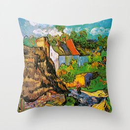 Vincent Van Gogh - House in Auvers Throw Pillow