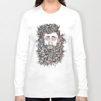 beard Long Sleeve T-shirts featuring BEARD by Leah Cooper