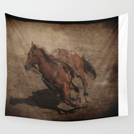 Break Away Rodeo Horse Wall Tapestry