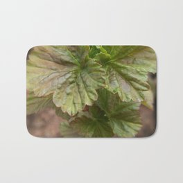 Currant Spring Leaves Bath Mat