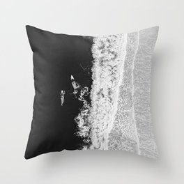 Ocean Surfing Girls Throw Pillow