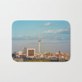 Berlin City Skyline - Cityscape and Tv Tower in Berlin, Germany Bath Mat