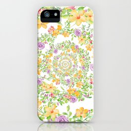 Floral Hypnosis iPhone Case