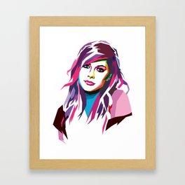 Avril Lavigne - WPAP art Framed Art Print