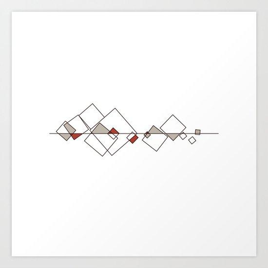#413 Sunken city – Geometry Daily Art Print