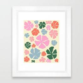 Groovy flowers Framed Art Print