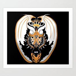 Copperhead Dragon Art Print
