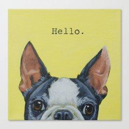 Hello. Canvas Print
