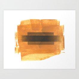 Ochre Abstraction Art Print