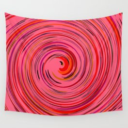 Pink circle Wall Tapestry