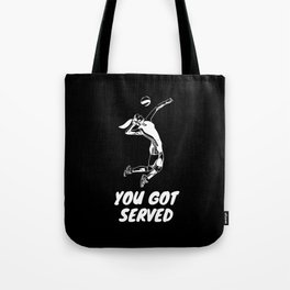 Volleyball Jump Serve Woman Girl Tote Bag