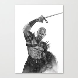 Savage Soldier Canvas Print