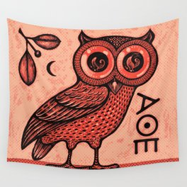 Athena's Owl Wall Tapestry