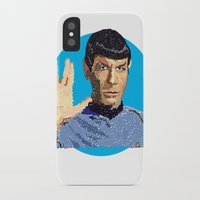 spock iPhone & iPod Cases featuring Spock by Connor Corbett