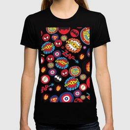 Movie Super Hero logos T-shirt