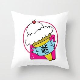 The Ice Cream Club Throw Pillow