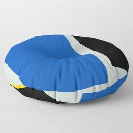 Color Extension Blue Floor Pillow