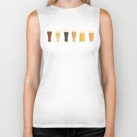 beer Biker Tanks featuring Beer by Sara Showalter