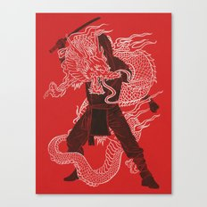 Dragon Ninja Canvas Print