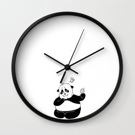 Sumo and Bab shares an ice cream Wall Clock