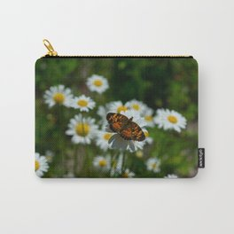 butterfly in the daisies Carry-All Pouch