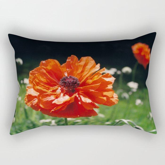 Single Poppy Rectangular Pillow