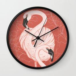 Flamingos of Natron Wall Clock