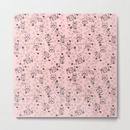Kat Pattern Metal Print