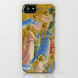 """Fra Angelico (Guido di Pietro) """"The Dormition and Assumption of the Virgin"""" (4) iPhone Case"""