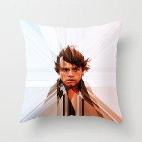 luke hemmings Throw Pillows featuring Luke by Tom Johnson