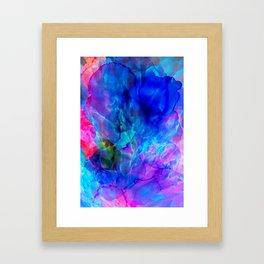 abstract sea waves cb Framed Art Print