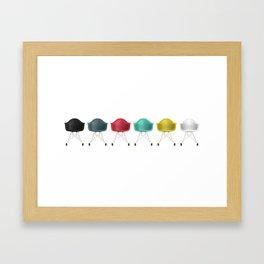 Eames® Molded Plastic Rocker with Wood Base - Cluster/Straight Framed Art Print