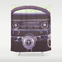 mustang Shower Curtains featuring Mustang by Jeremiah Locke