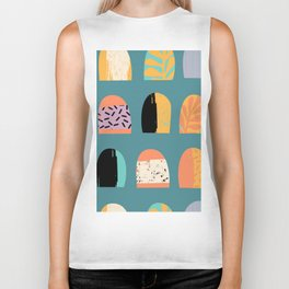 ABSTRACT COOL JUNGLE ARCHWAY PATTERN Biker Tank